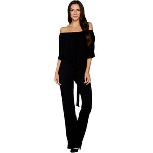 Hot In Hollywood Knit Jumpsuit With Overlay Detail